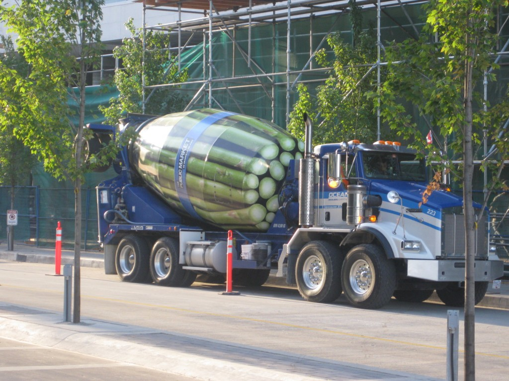 asparagus cement truck AU